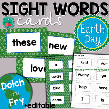 Earth Day Sight Words