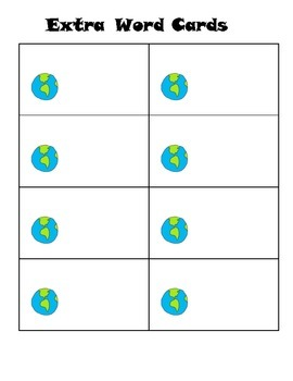 Earth Day Sight Words Game: EngageNY Tricky Words:  Easy to Play!