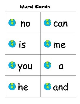 Earth Day Sight Words Game: Fountas and Pinnell 25 Words:  Easy to Play!