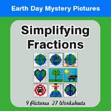 Earth Day: Simplifying Fractions - Color-By-Number Mystery