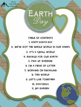 Earth Day Sing-Along Songs & Rhymes Songbook for Meeting Time