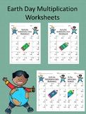 Earth Day Single Digit Multiplication Worksheets