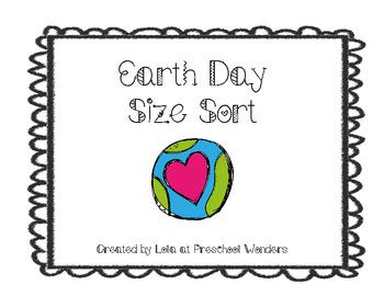 Earth Day Size Sort {Freebie}