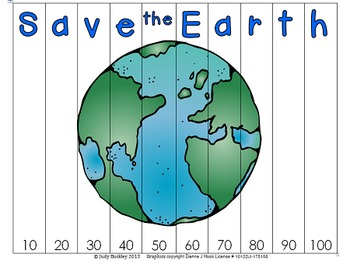 Earth Day Skip Counting & Tricky Teens  Puzzles