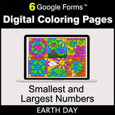 Earth Day: Smallest and Largest Numbers - Google Forms | D