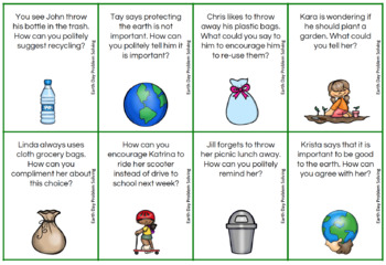 Earth Day Social Problem Solving (FREE)