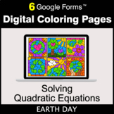 Earth Day: Solving Quadratic Equations - Google Forms | Di
