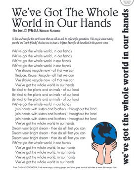 Earth Day Song - Lyric Sheet