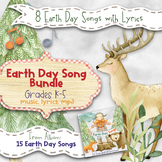 Earth Day Songs Bundle: Eight songs (Mp3, Lyrics, Karaoke Video & Sheet Music)