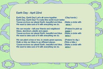 Earth Day - Songs Poem Activities Printable Books - Dr. Jean Feldman