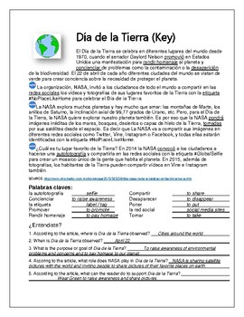 Earth Day Bilingual Spanish-English Lesson Materials