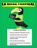 El Gran Capoquero-Tropical Rainforest Animal Project -Earth Day Writing Spanish
