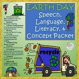 Earth Day Speech, Language & Literacy- Pre-k to 2nd grade