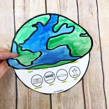 Earth Day Speech Therapy Activity Flip Book Craft for Articulation and Language