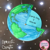 Earth Day Speech Therapy Craft {language & articulation goals included}