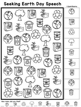 Earth Day Speech Therapy Seeking Activity {articulation}
