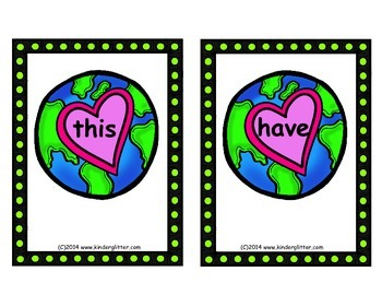 Earth Day & Spring Sight Word Write The Room!