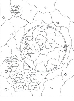 Earth Day Stained Glass Coloring Page