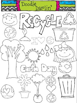 Earth Day Stamps Clipart