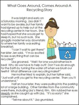 Earth Day Story with Comprehension Questions