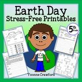 Earth Day NO PREP Printables - Fifth Grade Common Core