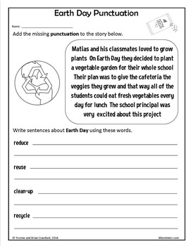 Earth Day NO PREP Printables - Fifth Grade Common Core