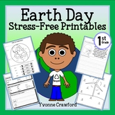 Earth Day NO PREP Printables - First Grade Common Core