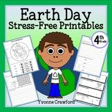 Earth Day NO PREP Printables - Fourth Grade Common Core
