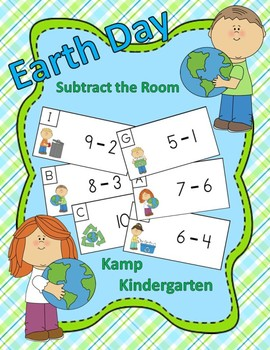 Earth Day Subtract the Room (Minuends to 10)