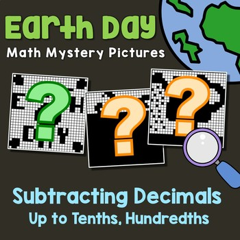 Earth Day Subtracting Decimals Up to Tenths, Hundredths