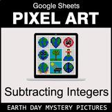 Earth Day - Subtracting Integers - Google Sheets Pixel Art