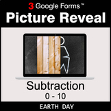 Earth Day: Subtraction 0-10 - Google Forms Math Game   Dis