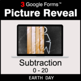 Earth Day: Subtraction 0-20 - Google Forms Math Game   Dis