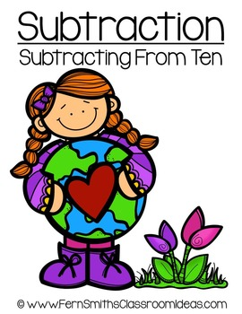 Earth Day Math A Quick and Easy to Prep Subtract From Ten Center Game