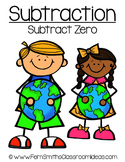 Earth Day Math A Quick and Easy to Prep Subtract Zero Center Game
