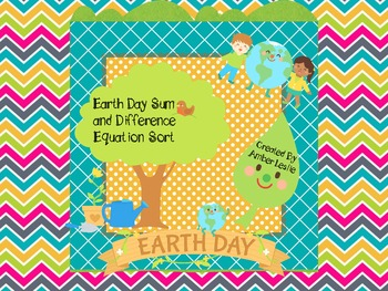 Earth Day Sum and Difference Equation Sort