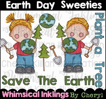 Earth Day Sweeties Clipart Collection