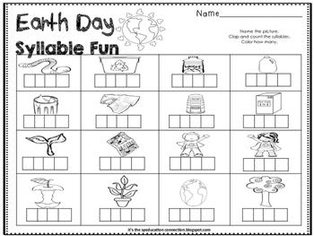 Earth Day Syllable Fun