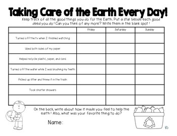 Earth Day Take Home Project