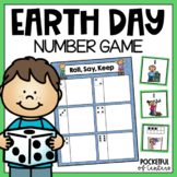 Earth Day Numbers Roll, Say, Keep Game