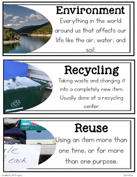 Earth Day: Teaching Main Idea and Text Features with an Informational Article