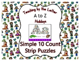 Earth Day ~ Teaching by the Letter Holiday Strip Number Puzzles