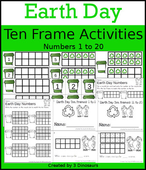 Earth Day Ten Frame Activities (1-20)