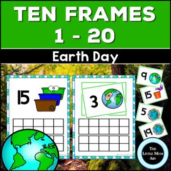 Earth Day Ten Frames 1-20