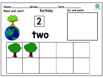 Earth Day Ten Frames : Cut and Paste Activity