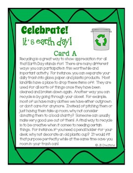 Earth Day Text Structure Group Scoot Game (3rd, 4th, 5th grade)