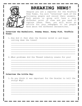 Earth Day - The Lorax Printable Activity Bundle