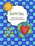 Earth Day Math and Literacy Centers for Preschool