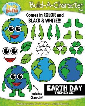Earth Day Build-A-Character Clipart {Zip-A-Dee-Doo-Dah Designs}