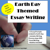 Earth Day Themed Essay Writing, w Rubrics & Printables
